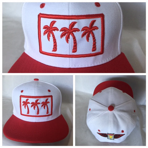 3 PALMS REDS LIMITED SNAPBACKS