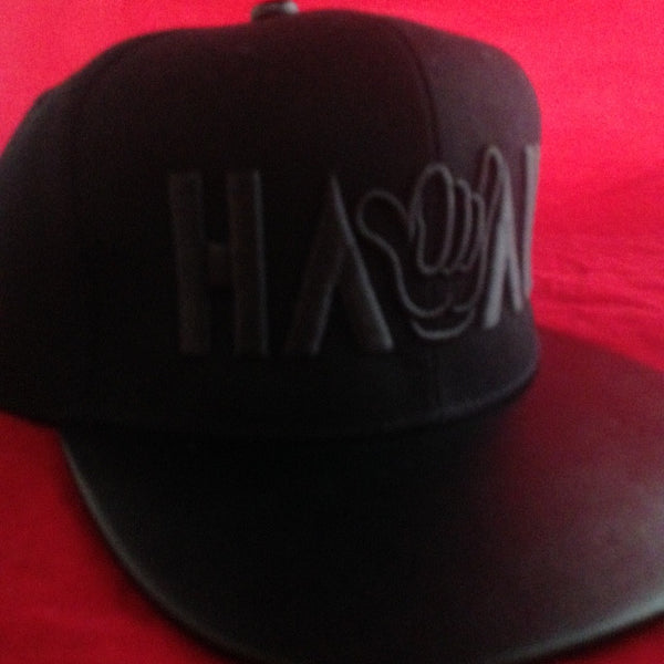HAWAII SHAKA BLACK ON BLACK BRIM SNAPBACK