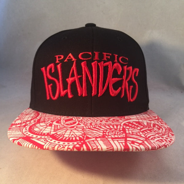 PACIFIC ISLANDERS TRIBAL RED STRAPBACK
