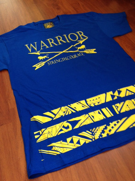 Warriors Tribal Bar Tee