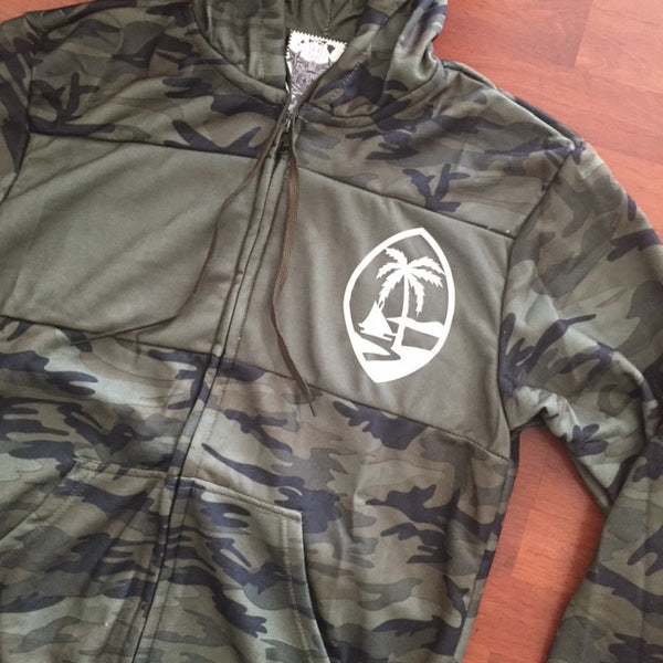 Guam Palm Camo Mens Track Jackets