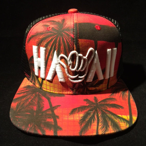 HAWAII SUNSET SNAPBACK TRUCKER