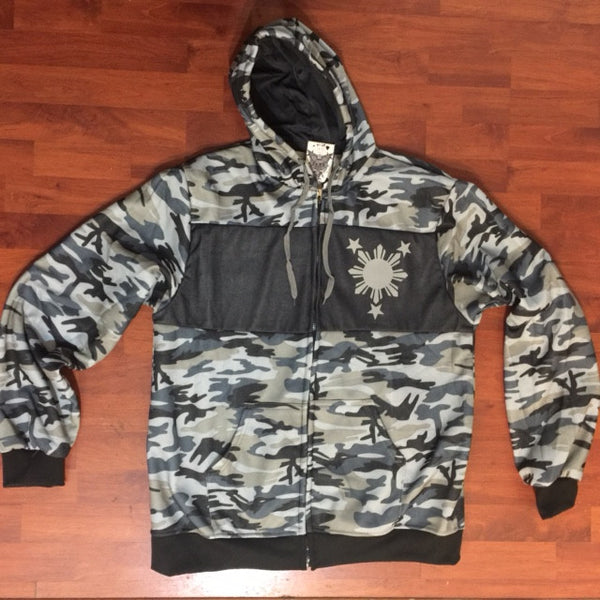 3 STARS AND SUN Camo Mens Track Jackets