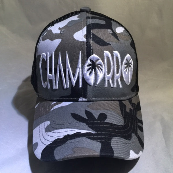 CHAMORRO PALMS WHITE CAMO TRUCKER
