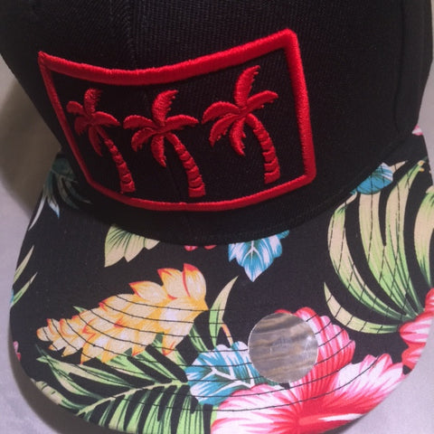 3 RED PALMS FLORALS LIMITED SNAPBACKS