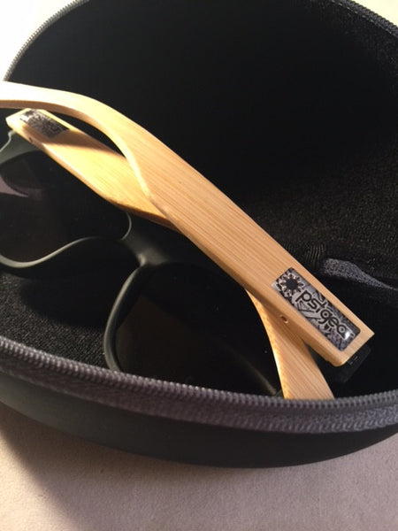 TRIBAL BAMBOO GLOSS BLACK SPECTACLES