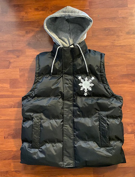 3 Stars and Sun Sleeveless Hooded Jackets