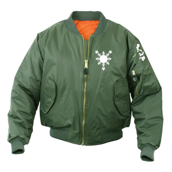 3 Stars and Sun Bomber Mens Jacket