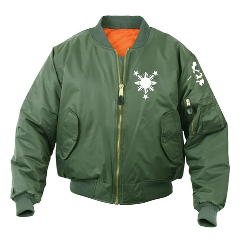 3 Stars and Sun Islander Bomber Mens Jacket