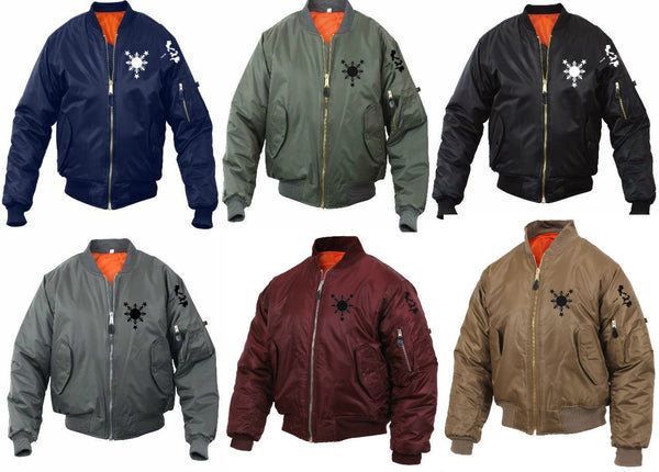 3 Stars and Sun Island Bomber Mens Jacket