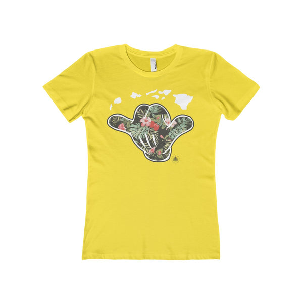 Hawaii Shaka Floral Womens Tee