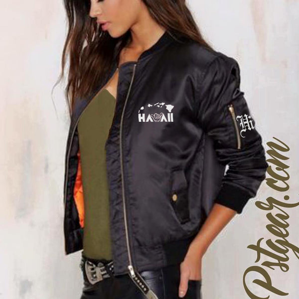 A HI HAWAII ISLANDER Bomber Womens Jackets