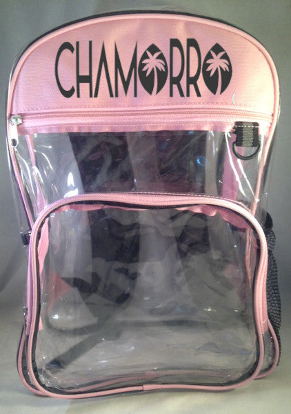 CHAMORRO CLEAR BACKPACK COLLECTION