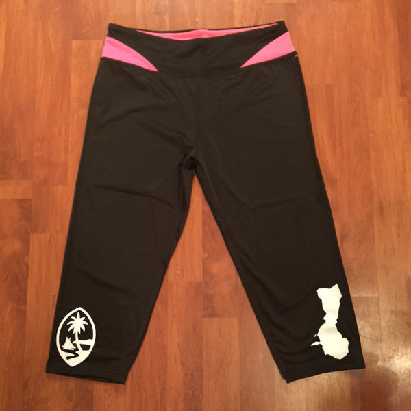 GUAM ISLANDS YOGA CAPRI PANTS (PINK) ON SALE