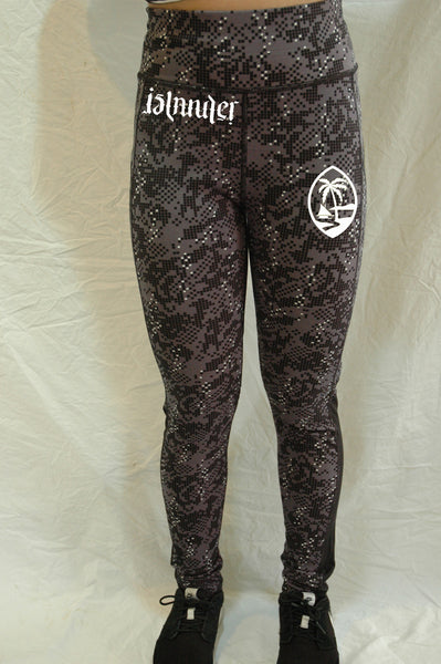 AN ISLANDER PALM DIGI CAMO YOGA PANTS