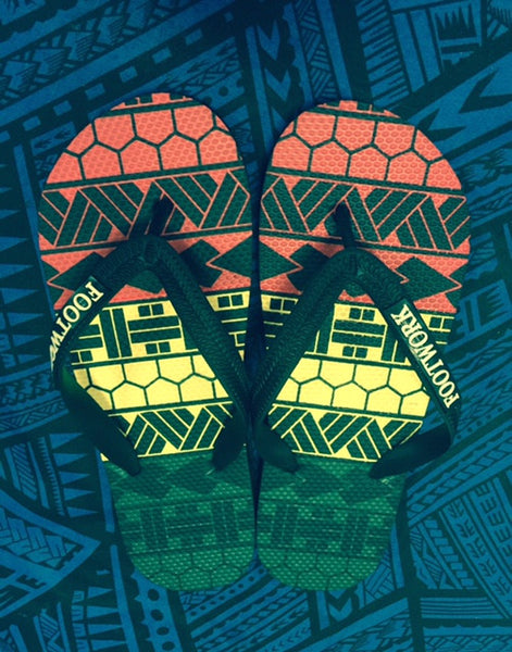 FREE RASTA TRIBAL MENS SLIPPERS LIMITED EDITION