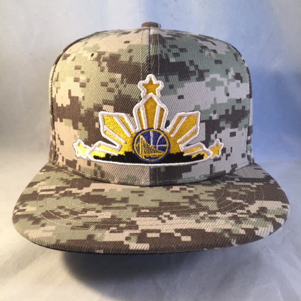 A WARRIORS DIGI CAMO BROWN 3 STARS AND SUN