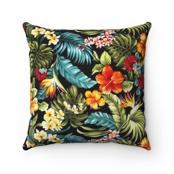 Filipino Floral Sun Square Pillow