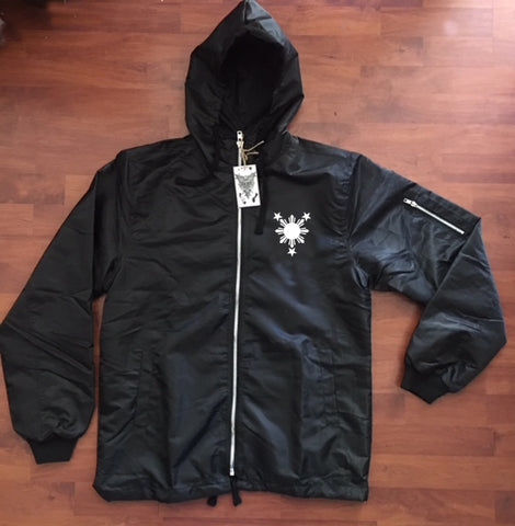 3 Stars and Sun Hoodie Bomber Jacket
