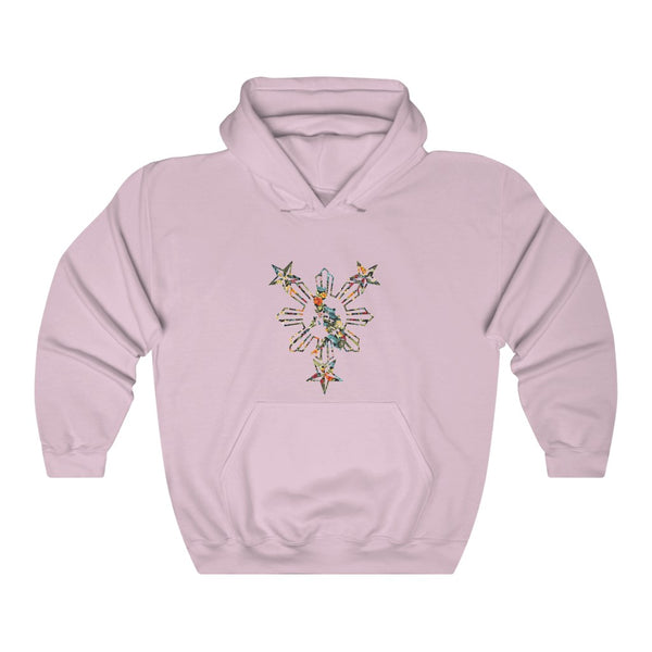 3 Stars and Sun Floral Hooded Sweatshirt