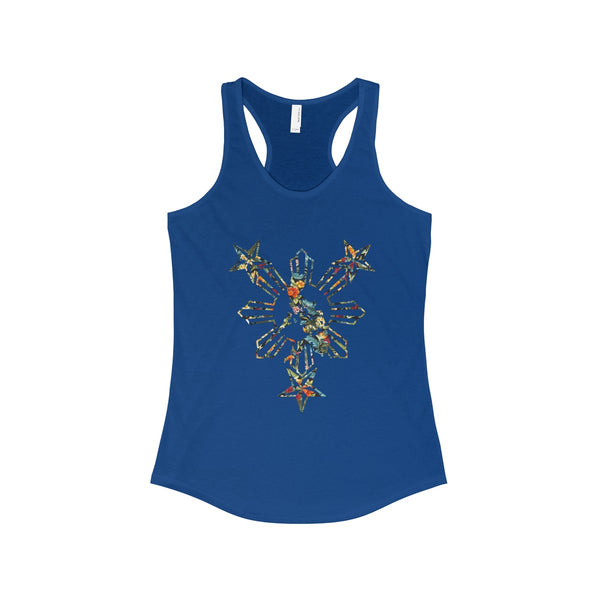 Philippines Floral Sun Racerback Tank