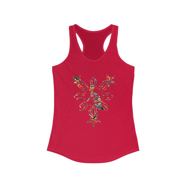 Philippines 3 Star and Sun Womens Racerback Tank