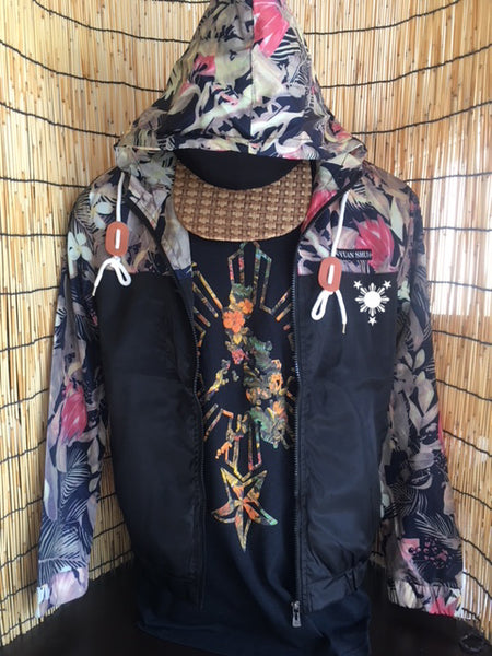 3 Stars and Sun Floral Jacket