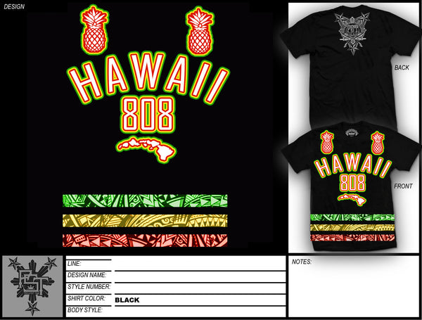 HAWAII TRIBAL BAR TEE