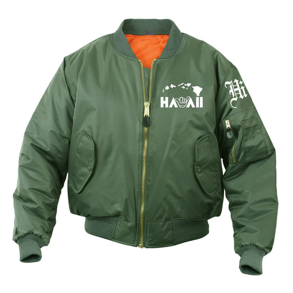 Hawaii Shaka  Islander Bomber Mens Jacket