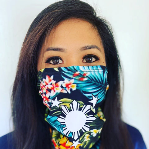 3 Stars and Sun Floral Tubular Wrap Bandana