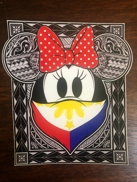 Philippines Tribal Bandana/Bow Decal