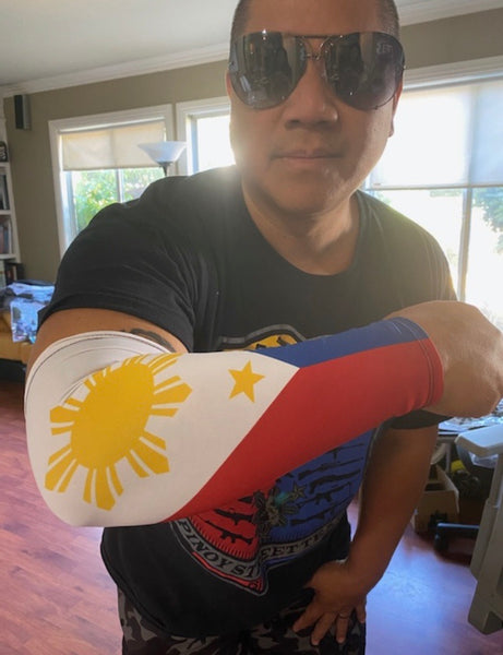 A1 3 Stars and Sun Filipino Arm Sleeve