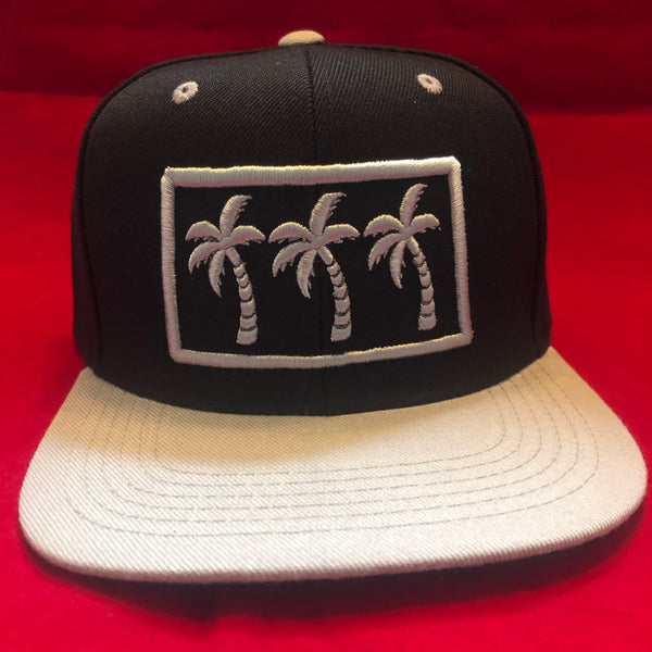 3 PALMS Gray and Black  LIMITED SNAPBACKS