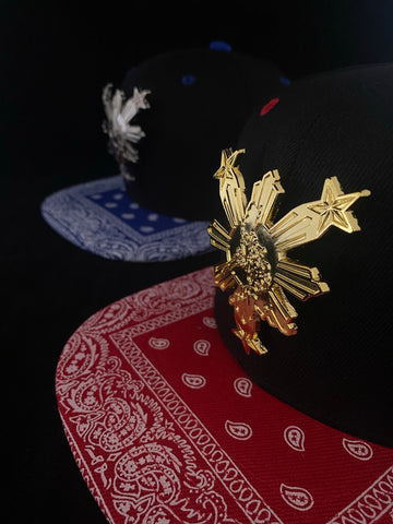 EZ MIL HBOM Cultura 3 Stars and Sun Metal Bandana Philippines Snapbacks