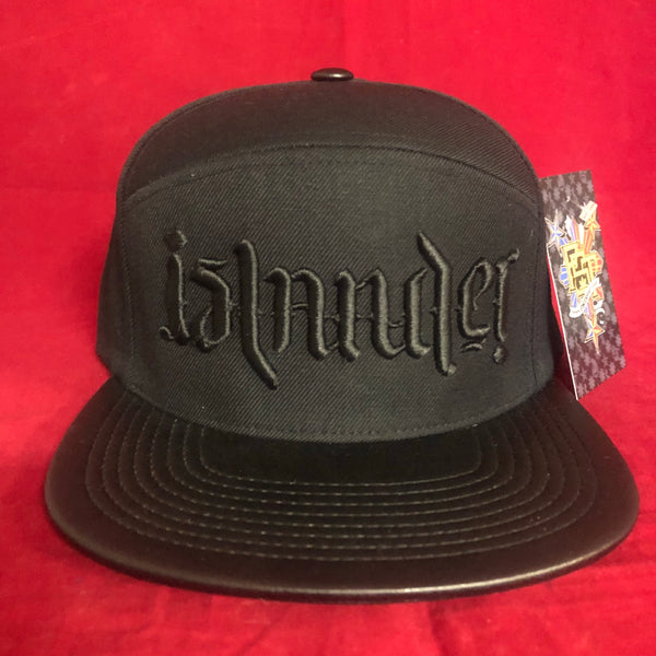 An Islander BLACK ON BLACK LEATHER BRIM LIMITED