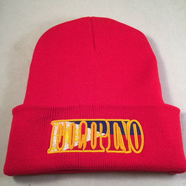 FILIPINO FLAG RED & BLUE BEANIES
