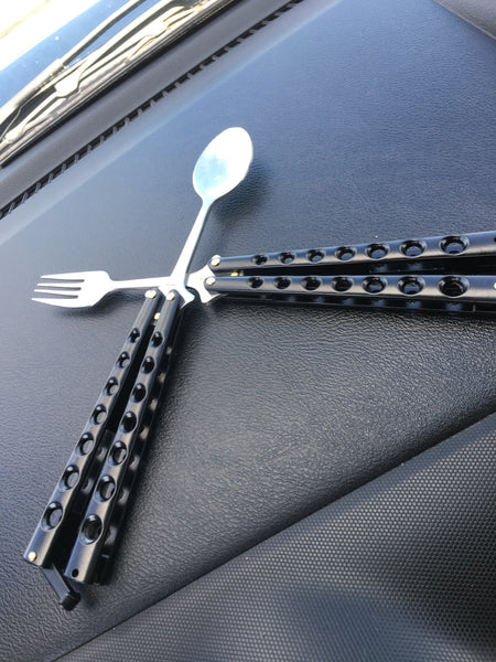 Balisong Fork and Spoon combo