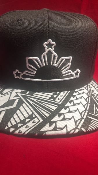 3 STARS AND SUN Tribal Brims