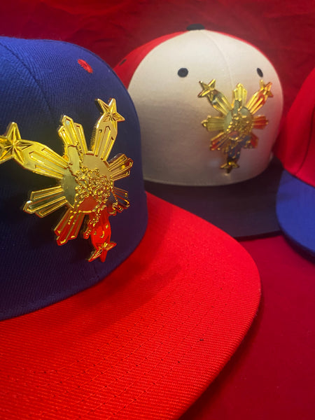 3 Stars and Sun Metal Bandana Philippines Gold Traditional Snapback