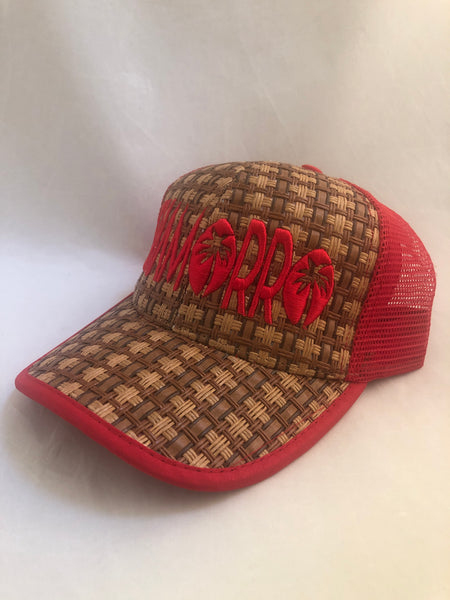 Chamorro Palm Red Truckers