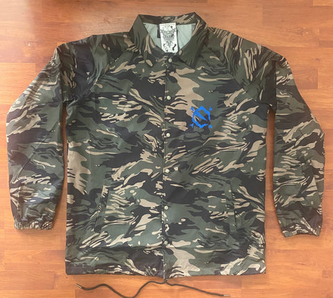 EZ MIL Emblem Tiger Camo Windbreaker Limited