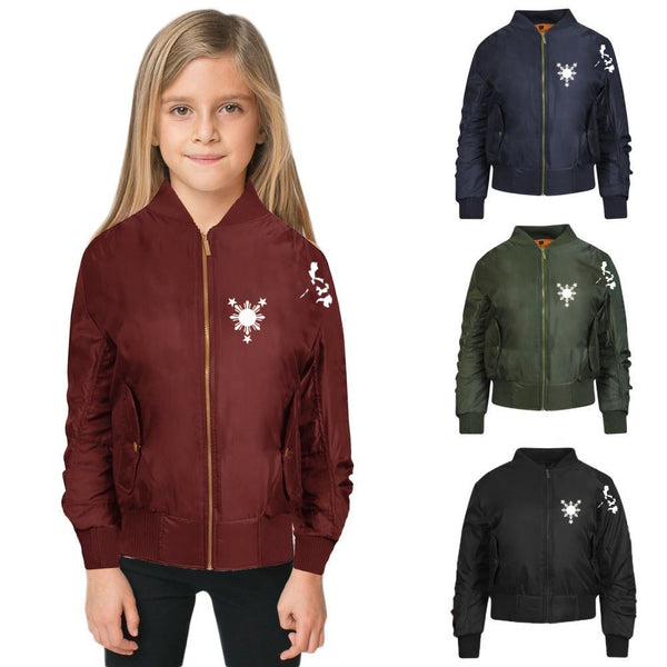 A 3 Stars and Sun Kids Bomber Jackets