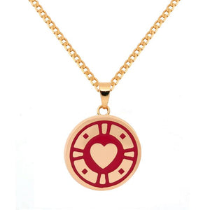 Casino Pendant Necklace Red
