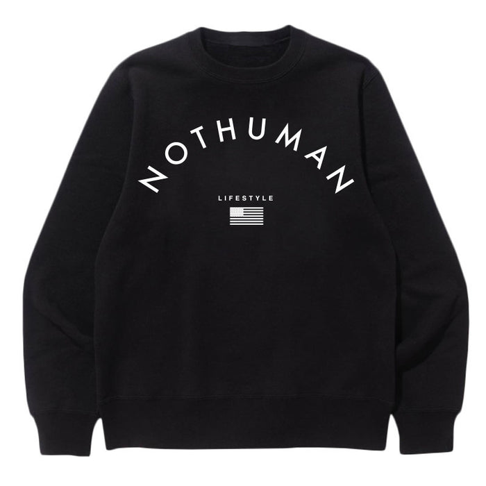 Not Human, LIFESTYLE NECESSITY SWEATER   Sweater, urban graphic streetwear clothing