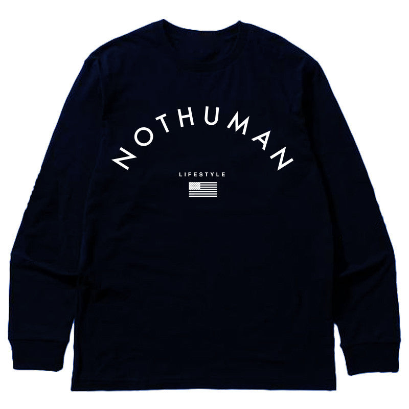 Not Human, LIFESTYLE NECESSITY LONGSLEEVE - LongSleeve, urban graphic streetwear clothing