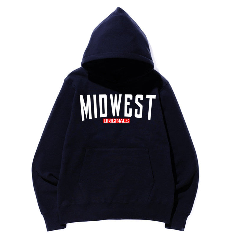 Not Human, MIDWEST ORIGINAL HOODIE   Hoodie, urban graphic streetwear clothing