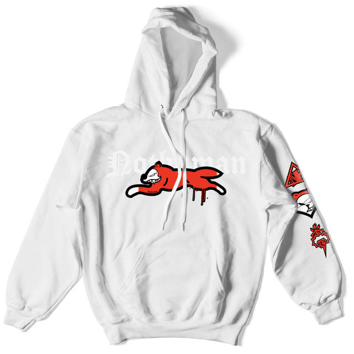 Not Human, THE FOX HOODIE - Hoodie, urban graphic streetwear clothing