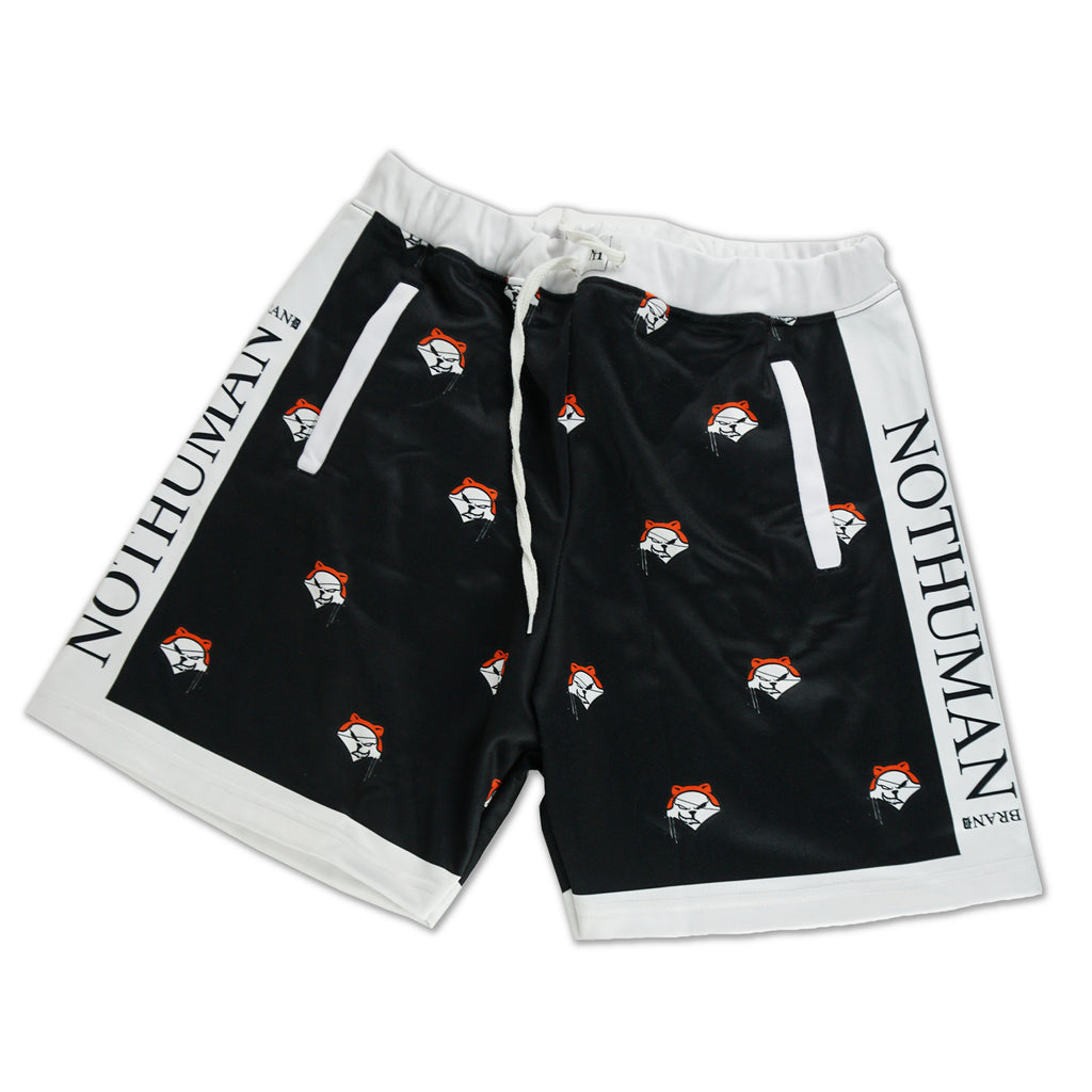 NOT HUMAN CLOTHING, Fox Head Shorts - , urban graphic streetwear clothing