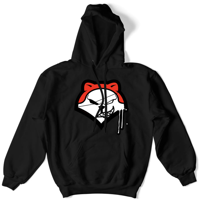Not Human, Fox Head Hoodie - Hoodie, urban graphic streetwear clothing