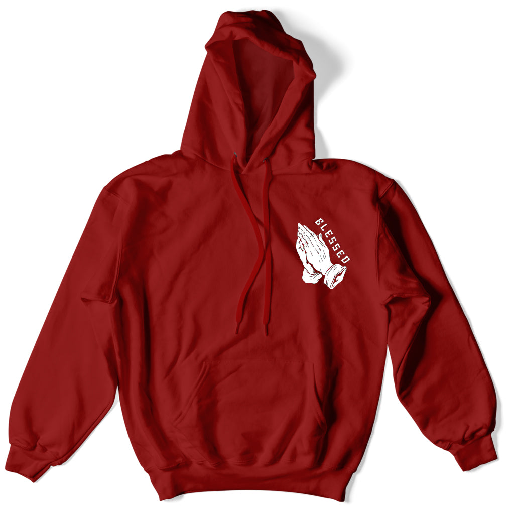 Not Human, Praying Hands Hoodie - Hoodie, urban graphic streetwear clothing
